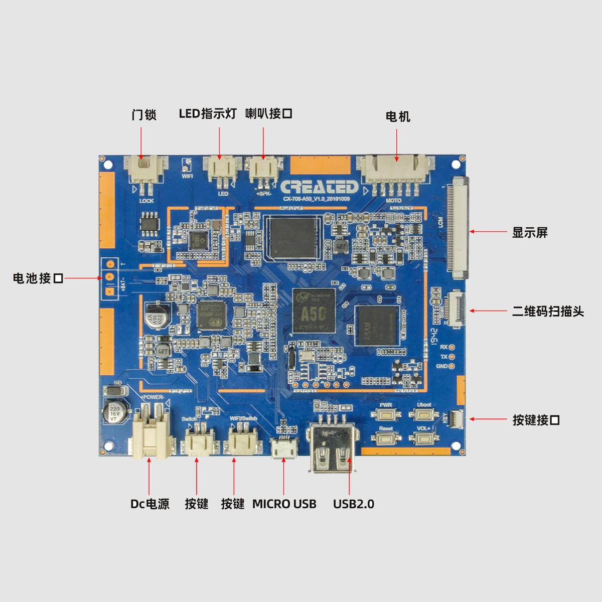 CX-708安卓主板  全志A50  解决方案