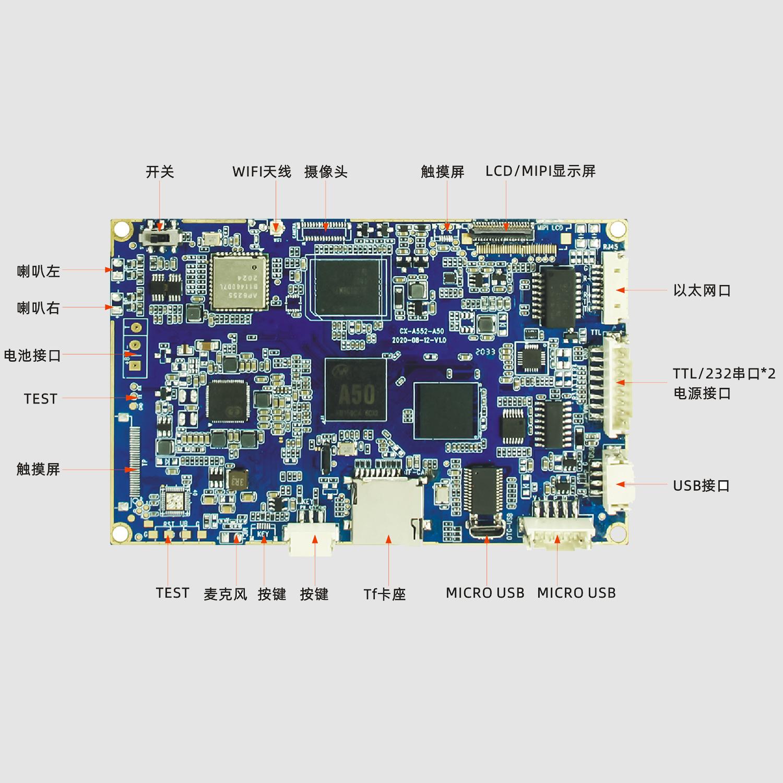 CX-A552安卓USBhost/RJ45网口全志A5010.1寸智能平板电脑主板方案